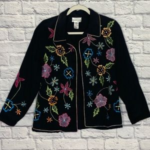 Drapers & Damon's Floral Embroidered Jacket